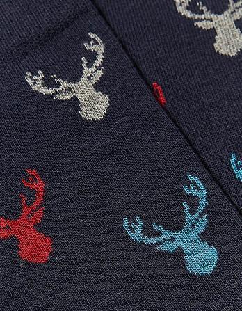 One Pack Multi Stag Socks