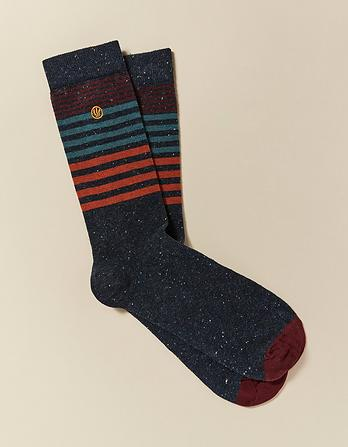 One Pack Owen Stripe Socks