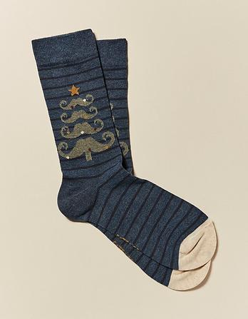 One Pack Moustache Tree Socks