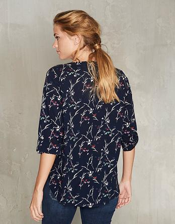 Poppy Starling Floral Organic Cotton Popover