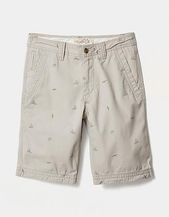 Cove Boat Print Shorts