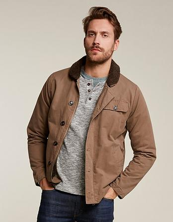 Cotton Sherpa Deck Jacket