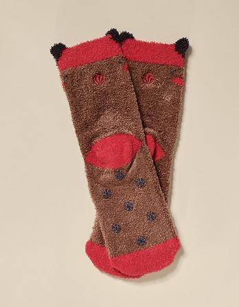 Milo Moose Fluffy Socks