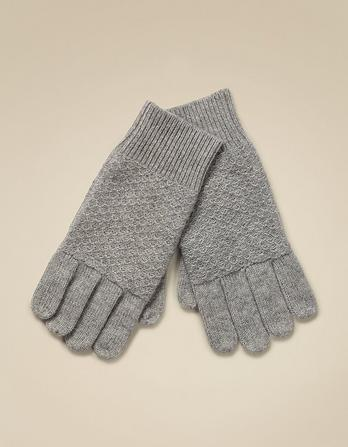 Cashmere Tuck Stitch Gloves