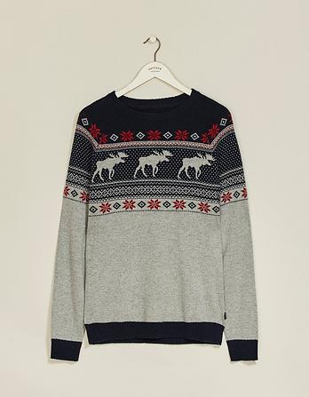 Nutfield Fairisle Crew Neck Christmas Sweater