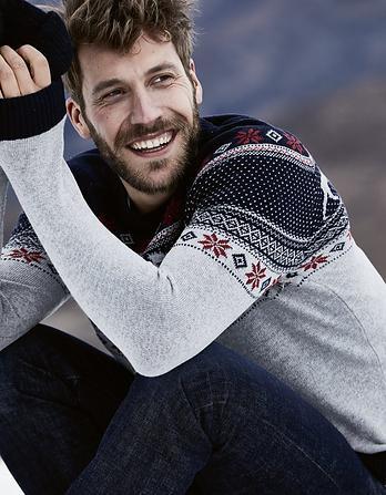 Nutfield Fairisle Crew Neck Christmas Sweater