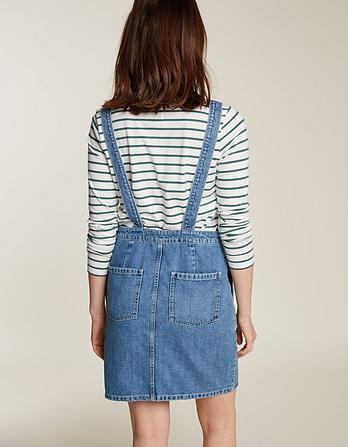 Corin Denim Pinafore Dress