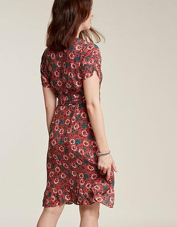 Greta Posy Vine Wrap Dress