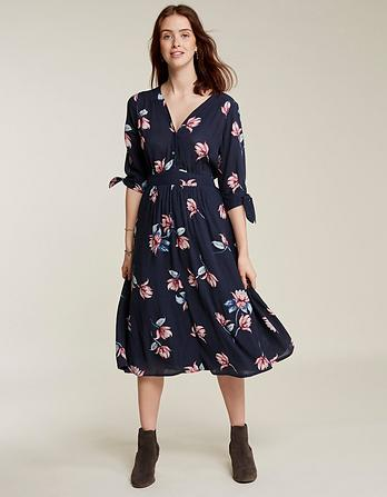 Aria Waterlilies Midi Dress