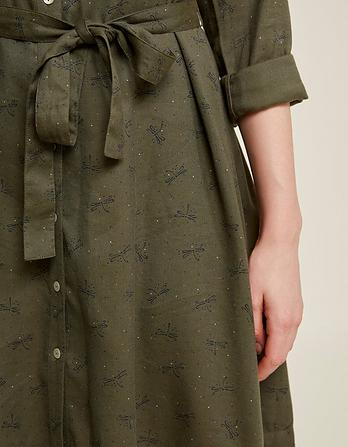 Shelley Dragonfly Spot Shirt Dress