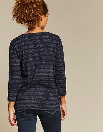 Tulip Textured Stripe Top