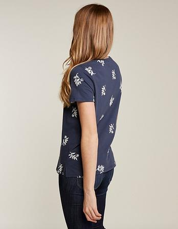 Prairie Floral Embroidered T-Shirt