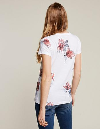 Waterlilies Floral T-Shirt