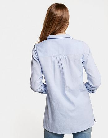 Thandie Chambray Longline Top