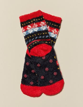 Fairisle Pattern Fluffy Socks