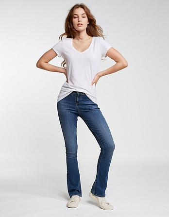 Clean Blue Bootcut Jeans