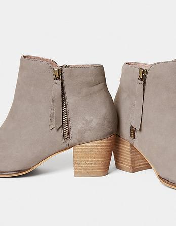 Acorn Zip Ankle Boots