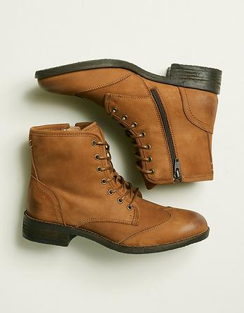 Camilla Lace Up Boots