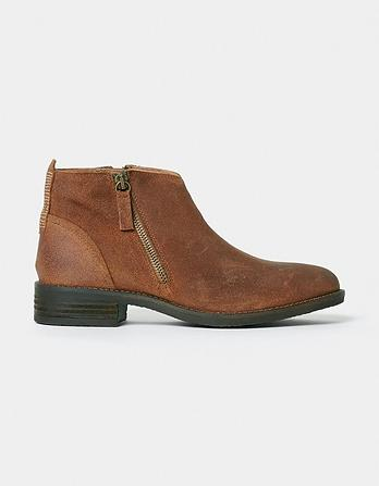 Newbourne Suede Zip Ankle Boots