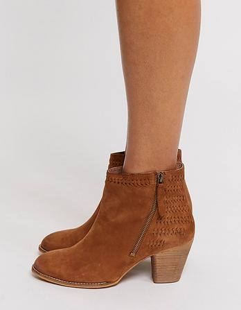 Oake Weave Detail Ankle Boots