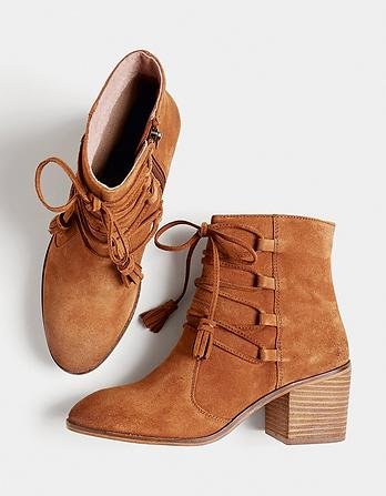 Tansley Tassel Block Heel Boots