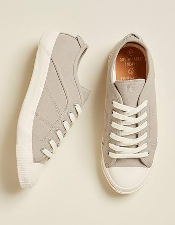 Organic Cotton Lace Up Trainers