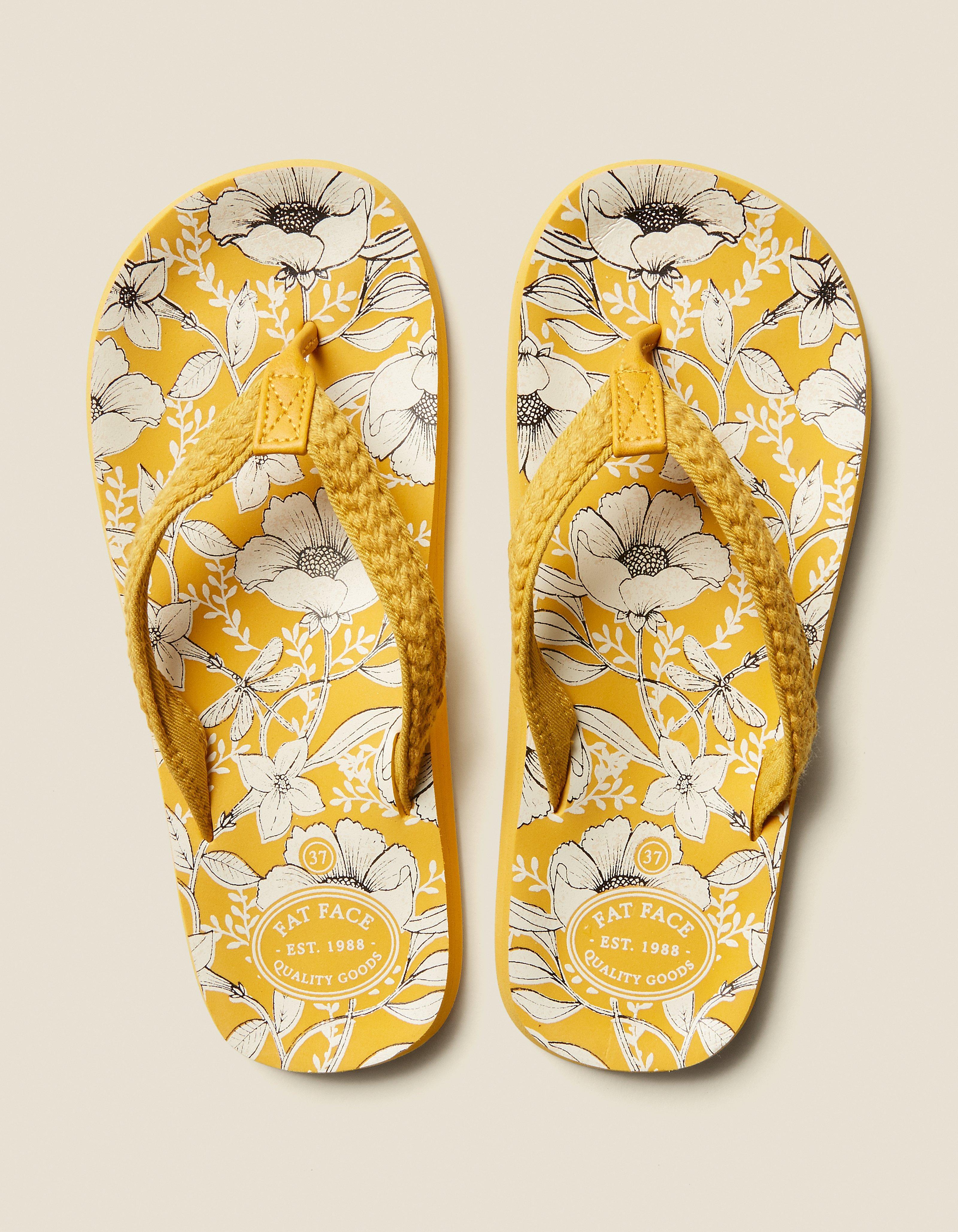 4067bf30d5af Bay Dragonfly Floral Flip Flops