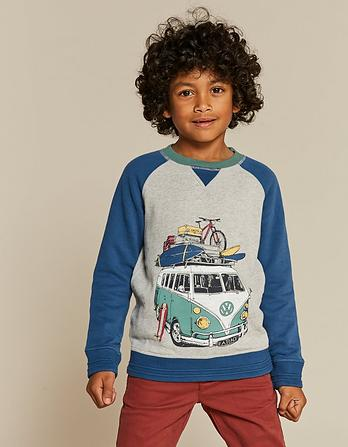 VW Raglan Crew Neck Sweatshirt