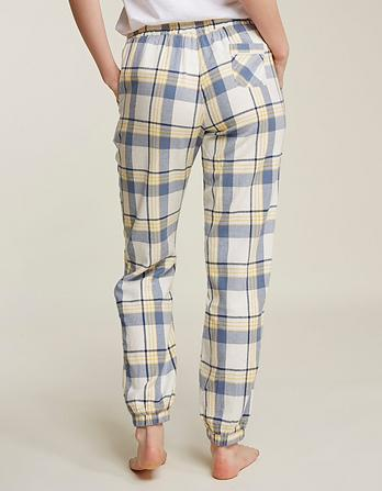 Check Cuffed Lounge Pants
