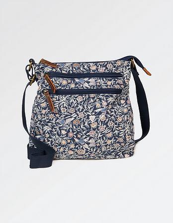 Linear Garden Canvas Cross Body Bag