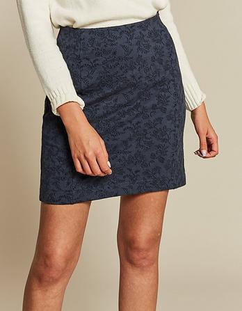 Jennie Jacquard Prairie Floral Skirt