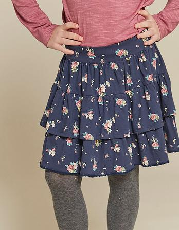 Flower Print Ra Ra Skirt