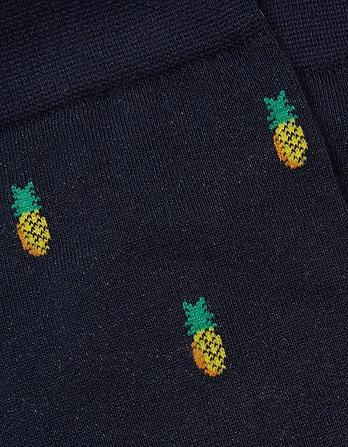 One Pack Pineapple Ditsy Socks