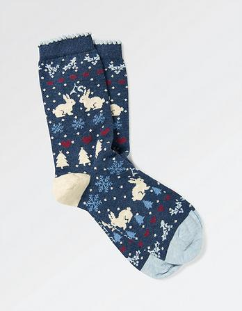One Pack Bunny Fairisle Socks