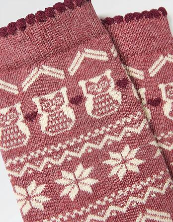 One Pack Owl Fairisle Socks