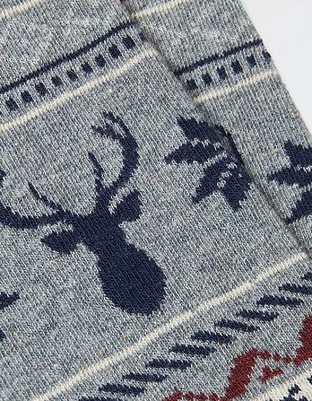 One Pack Stag Fairisle Socks