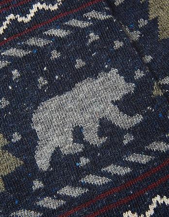 One Pack Bear Fairisle Socks