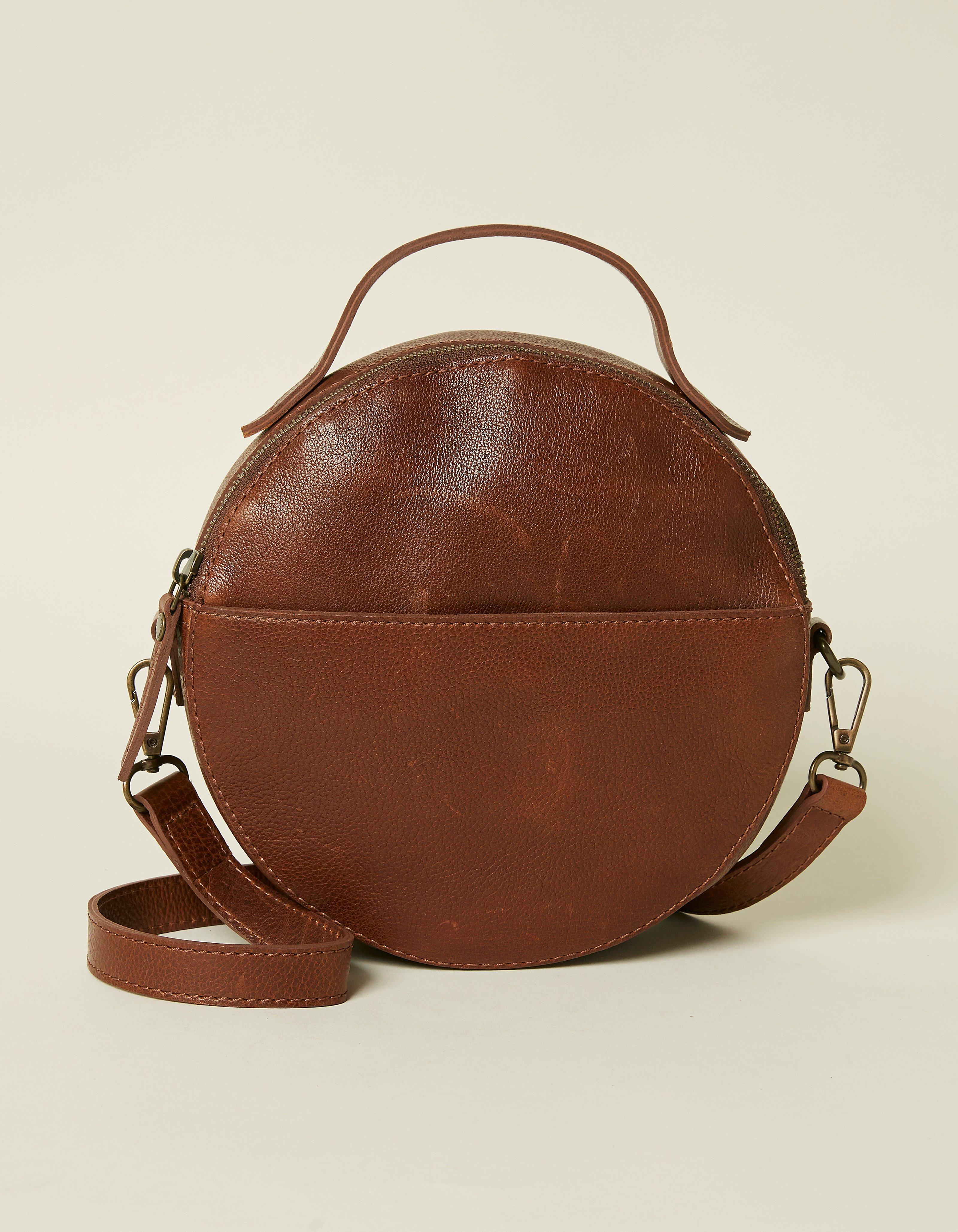 92d76f65588b7 Chestnut Caitlin Circle Cross Body Bag
