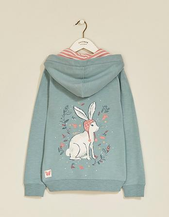 Bunny Graphic Zip Thru Hoody
