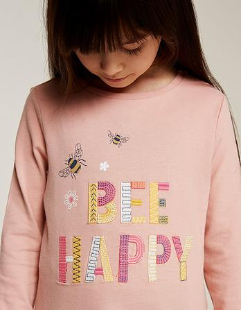 Bee Happy Graphic T-Shirt