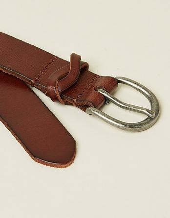 Twist Keeper Leather Belt
