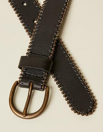 Stud Edge Leather Belt