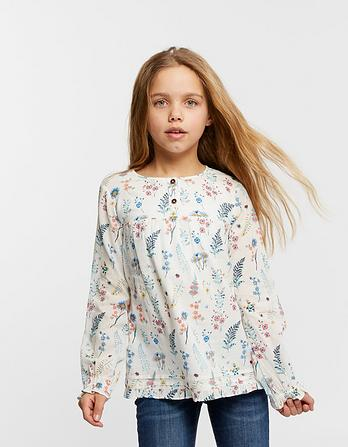 Wild Flower Print Blouse