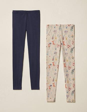 Two Pack Wild Flower Leggings