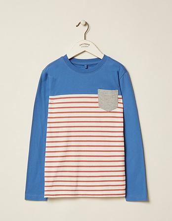 Placement Pocket Stripe T-Shirt