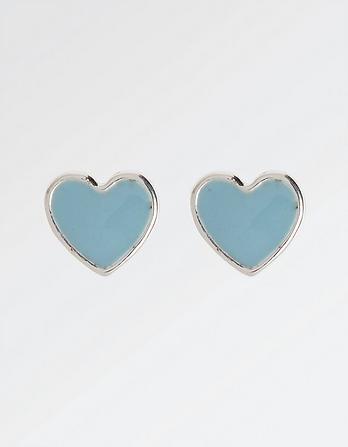 Enamel Heart Stud Earring