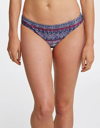 Batik Stripe Reversible Bikini Bottoms