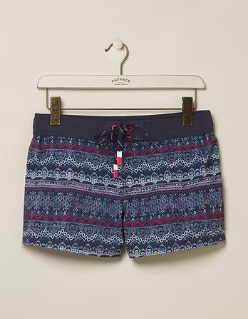 Batik Stripe Board Shorts