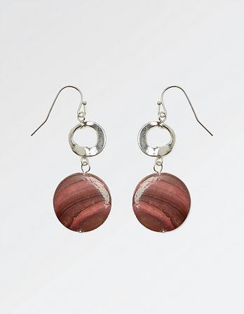 Bead Disc Drop Earring
