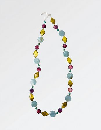 Mixed Shape Bead Long Necklace